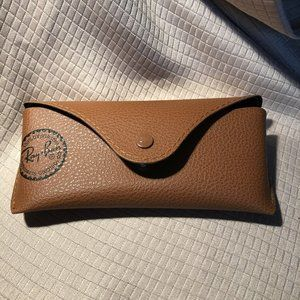 Ray Ban brown eyeglass case with snap button